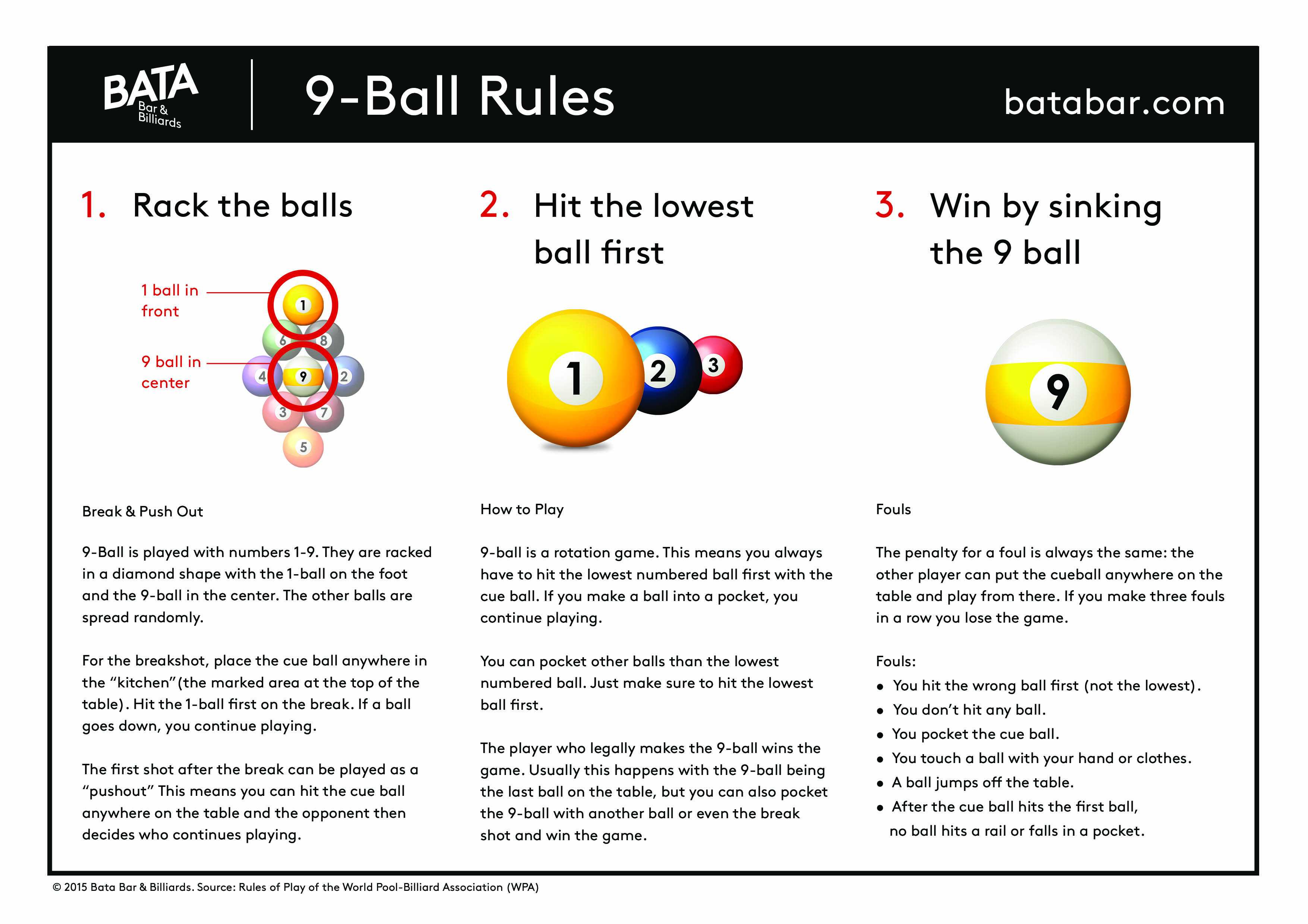 rules for 8 ball and 9 ball pool billiards u203a bata bar billiards rh batabar com pool table rules qld pool table rules and regulations