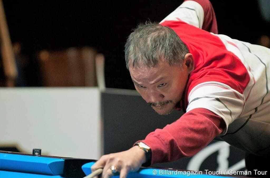 Pressemitteilung: Drei Pool-Billard-Weltmeister in Berlin. Efren Reyes, Earl Strickland und Francisco Bustamante auf Abschiedstournee