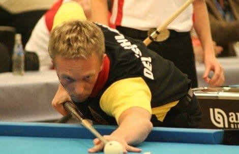 Thorsten Hohmann auf der Poolbillard Europameisterschaft in Willingen (Foto: Sebastian Voigt unter CC BY 3.0)