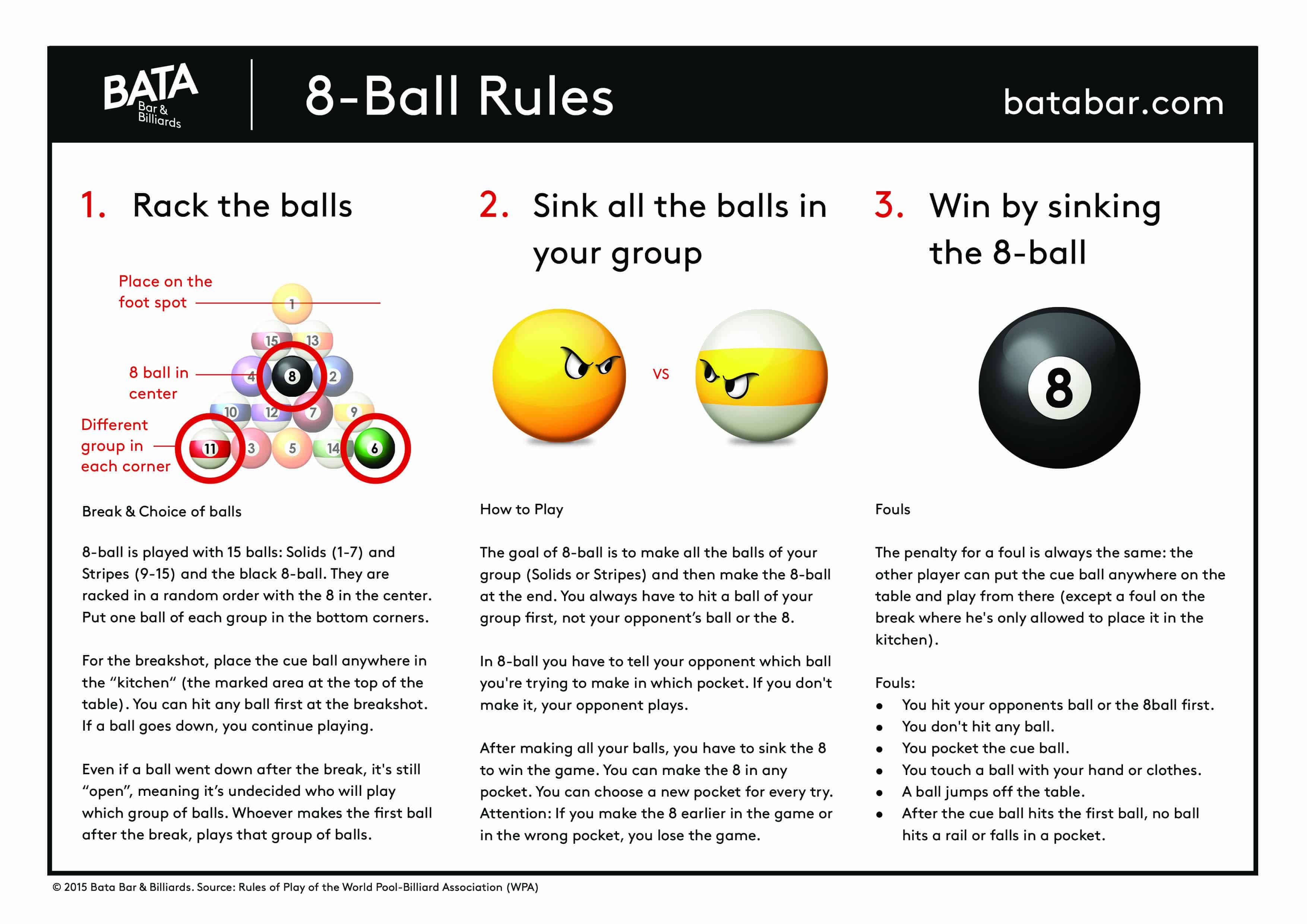 8 ball pool game rules